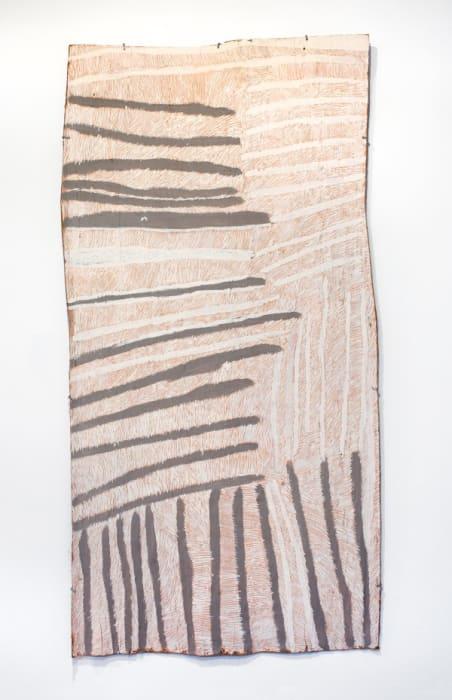 Pink and Grey lines by Nyapanyapa Yunupingu