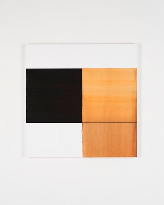 Exposed Painting Cadmium Orange Deep by Callum Innes