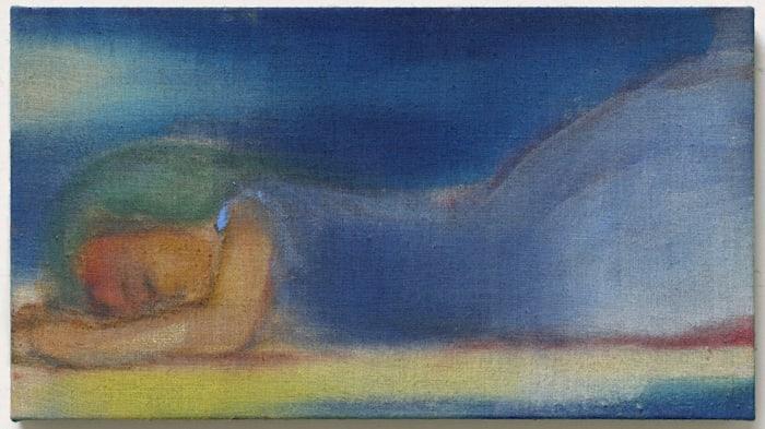 Lying in Blue by Leiko Ikemura