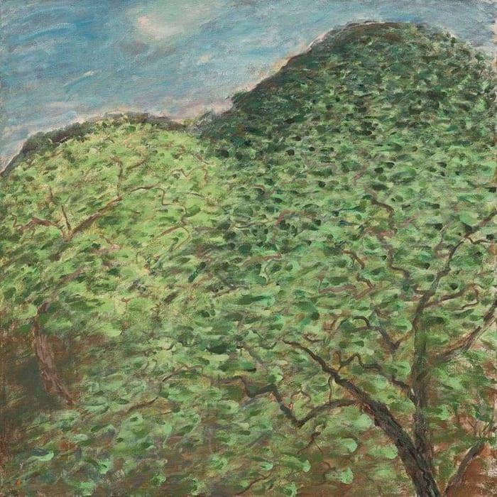 Guishan Sketch-Walnut Tree in Spring Wind by Mao Xuhui