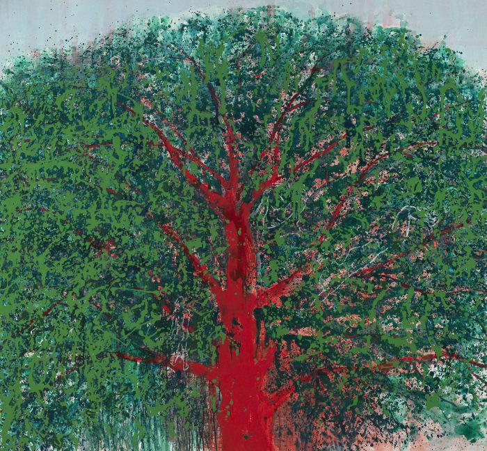 Red Tree by Mao Xuhui