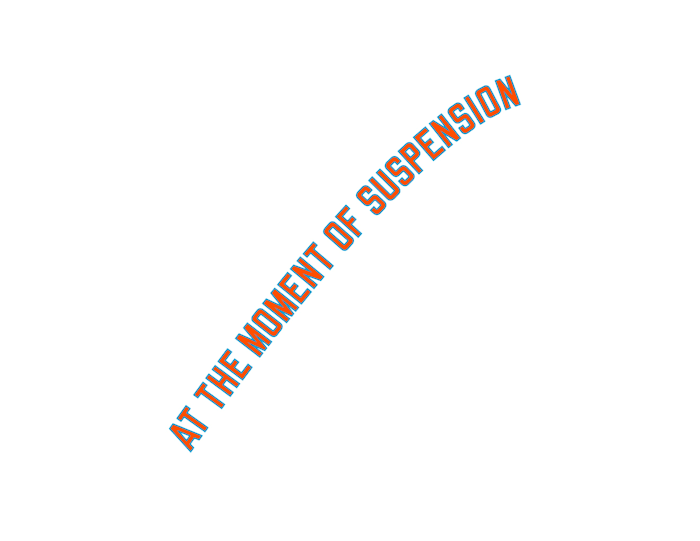 AT THE MOMENT OF SUSPENSION by Lawrence Weiner