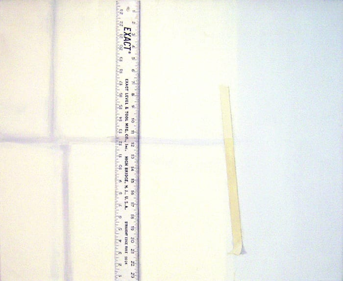 Light on Rule, Wall and Tape by Sylvia Plimack Mangold