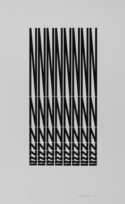 Structure à partir de la lettre N by Vera Molnar