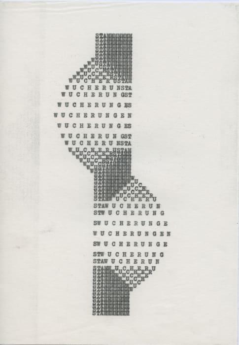 """""""Wucherungen"""" by Ruth Wolf-Rehfeldt"""
