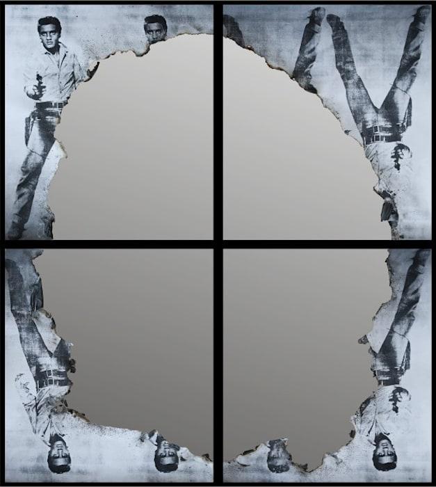 Self Portrait of You + Me (Duo quartet Elvis) by Douglas Gordon