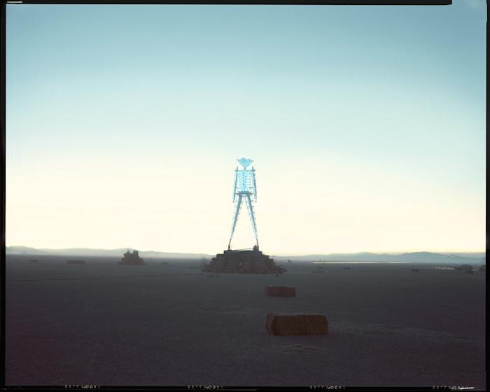 Neon Man, Black Rock Desert, Nevada by Richard Misrach