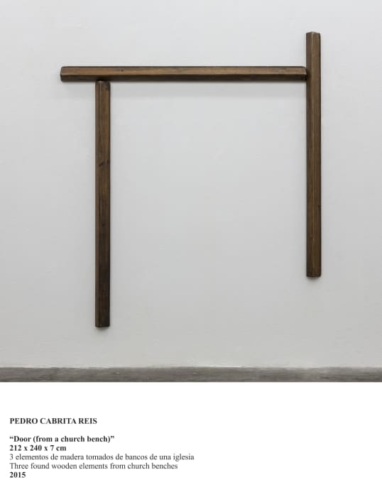 """"""" Door ( from a church bench)"""" by Pedro Cabrita Reis"""