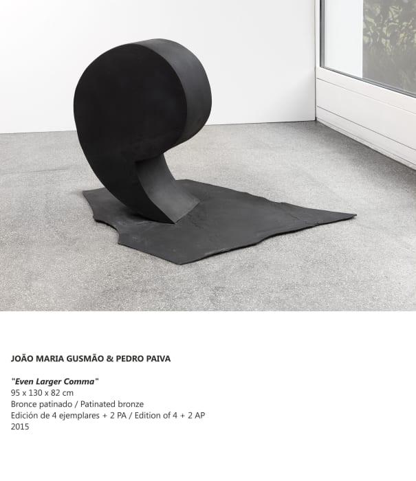 """"""" Even Larger Comma"""" by João Maria Gusmão + Pedro Paiva"""