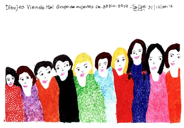 Dibujos viendo mal - Grupo de Mujeres, Vie. 30 Dic 2017 by Teresa Burga