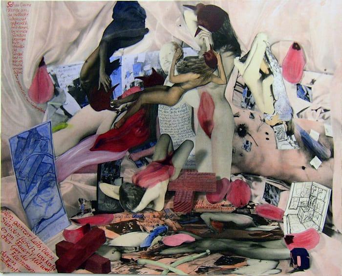 Portrait of Mr. S. (Ensemble canvas) by Anna Oppermann