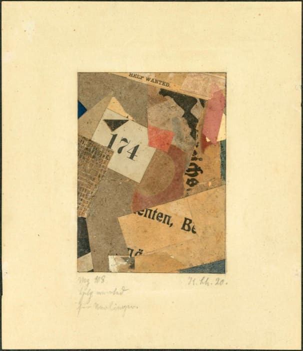 Help wanted by Kurt Schwitters