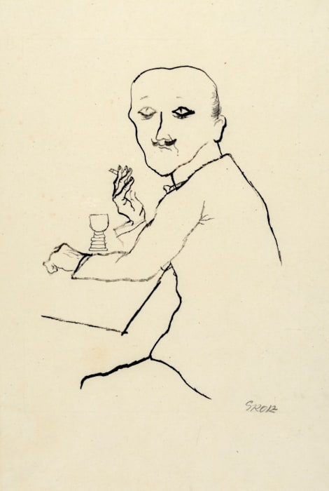 Wine drinker by George Grosz