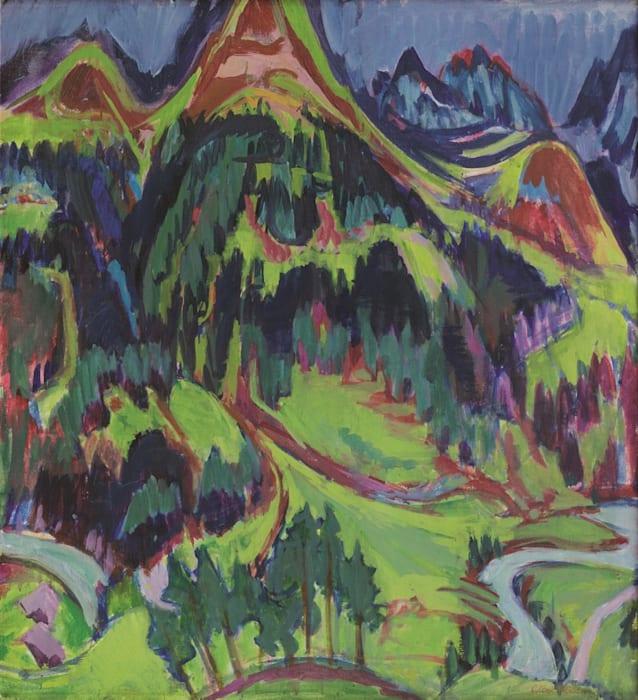 Grosse Berglandschaft (Davoser Landschaft) by Albert Müller