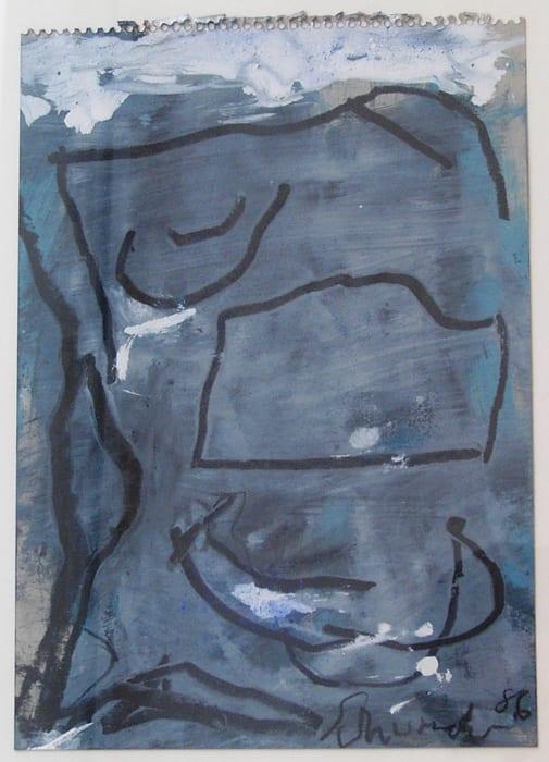 untitled (G-50) by Emil Schumacher