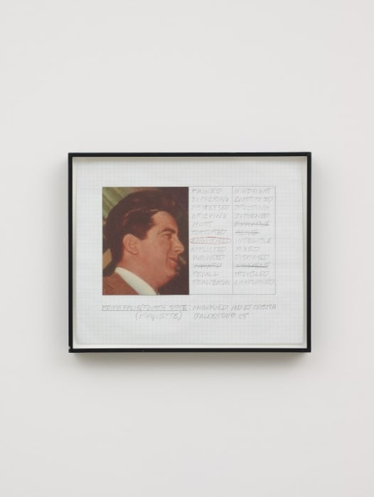 Prima Facie (Fourth State): Anguished and Et Cetera (Maquette) by John Baldessari