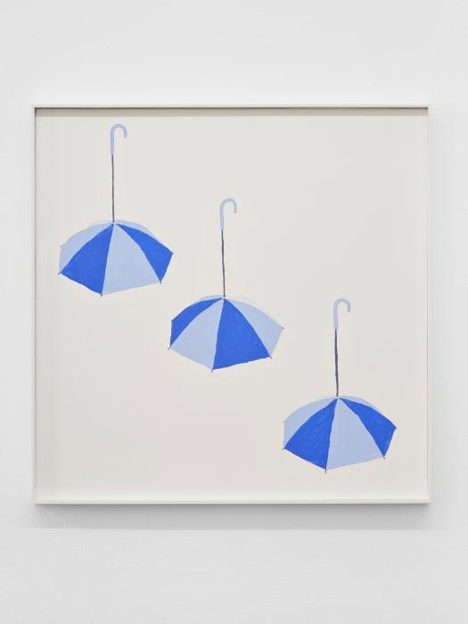 Three Blue Umbrellas by Jos de Gruyter and Harald Thys