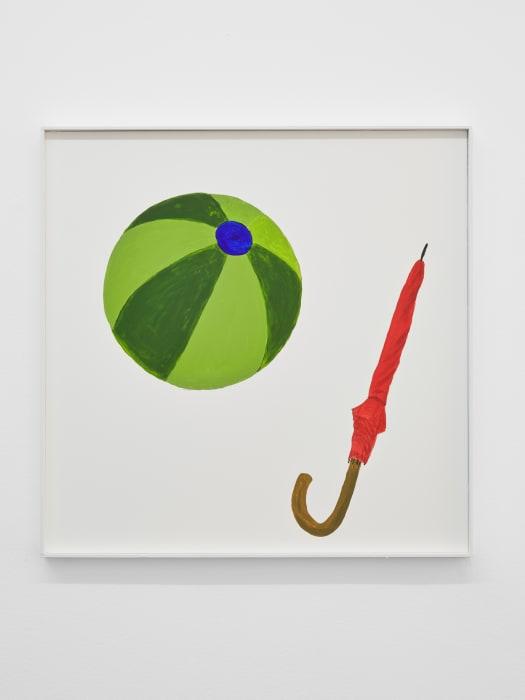 A Beachball and an Umbrella by Jos de Gruyter and Harald Thys