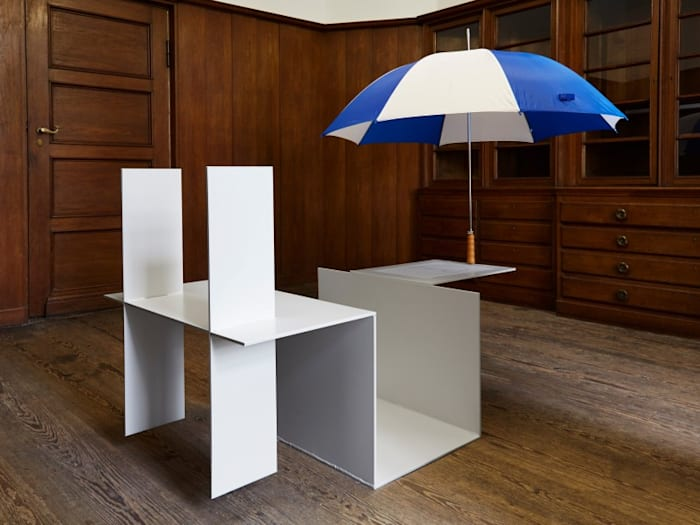 Umbrella White Element by Jos de Gruyter and Harald Thys