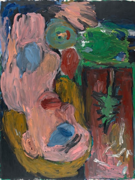 Rote Mutter mit Kind by Georg Baselitz