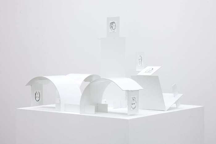 Bended white element (Prototipo) by Jos de Gruyter Harald Thys