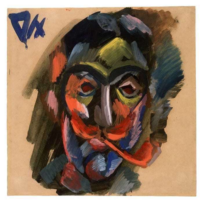 Kopf mit Pfeife/Head of a Man with Pipe by Otto Dix