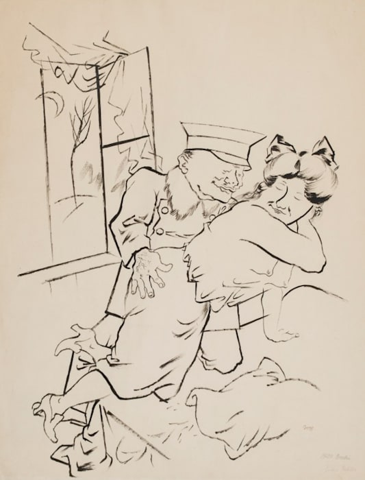 Hohere Tochter/Upperclass Daughter by George Grosz