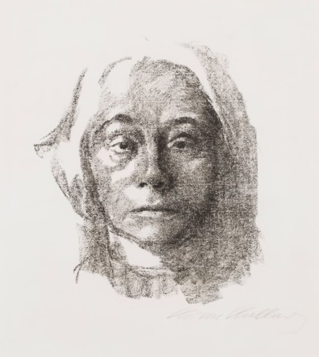Selbstbildnis/Self-Portrait by Käthe Kollwitz