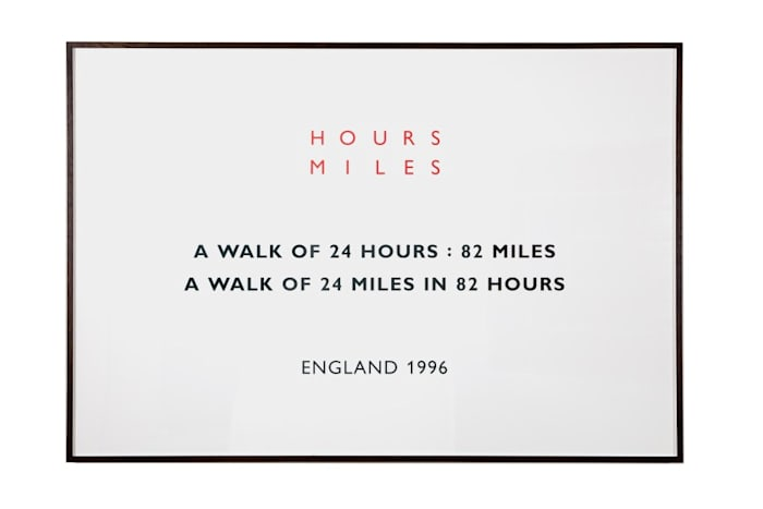 Hours Miles, England by Richard Long