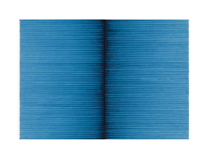 Radical Writings, Schriftzug-Atemzug, 9-11-87 by Irma Blank