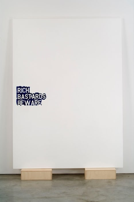 untitled 2007 (rich bastards beware no.1) by Rirkrit Tiravanija