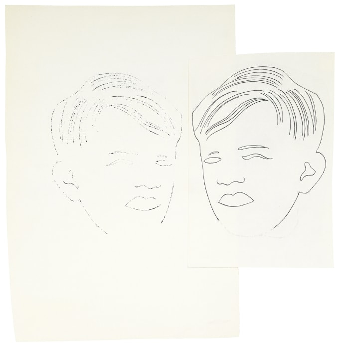 Boy's Head by Andy Warhol
