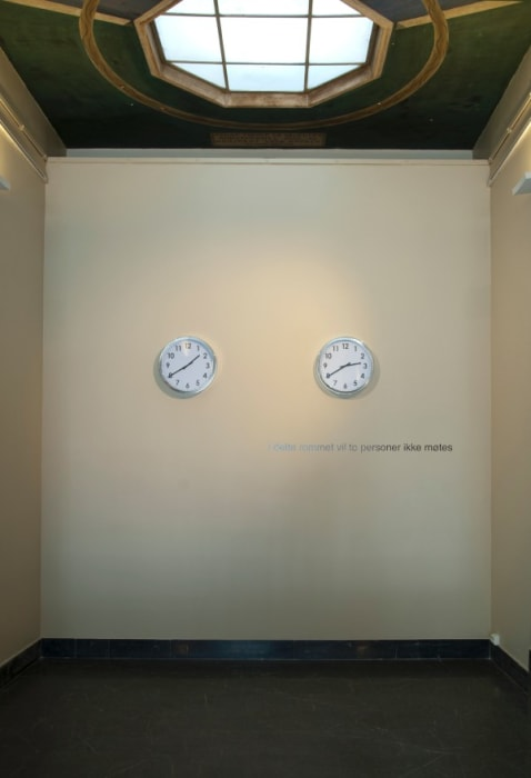 Here, in this room, two people will never meet by David Lamelas