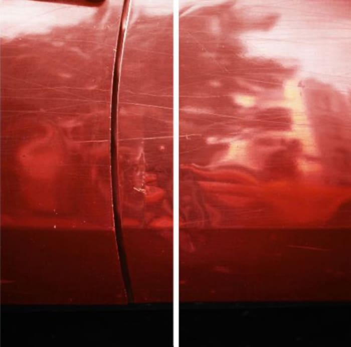 New Colorstudy 1976/2012,Diptych Red by Jan Dibbets