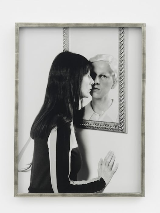 Me and Claude in Mirror by Gillian Wearing