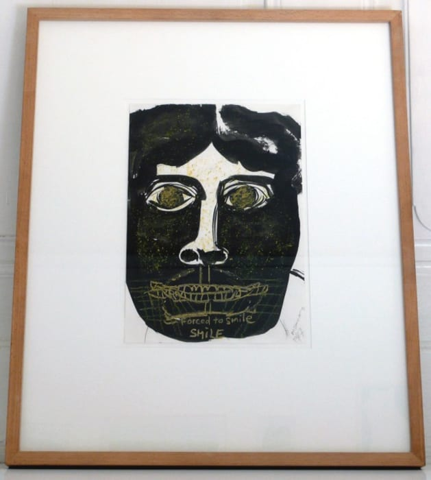 Forced to Smile by Marlene Dumas