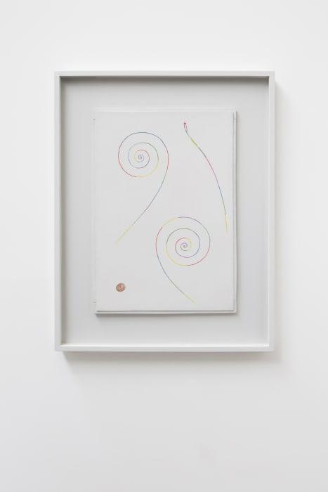 Deux spirales, une fusée, une tache rouge avec cercles verts by Georges Vantongerloo