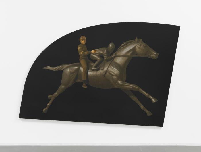 Boy on Horse by Steven Shearer