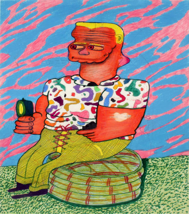Pull the String Baby, I'm Hot by Peter Saul