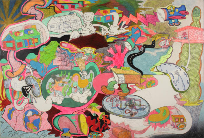 Suburb by Peter Saul