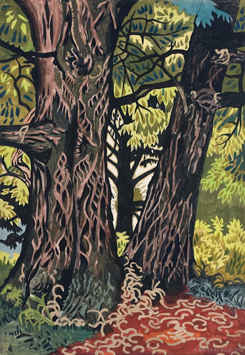 Chestnut Trees by Charles Burchfield