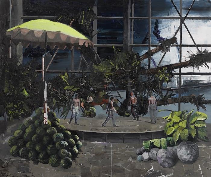 Untitled (sundial melon cannon) by Marius Bercea