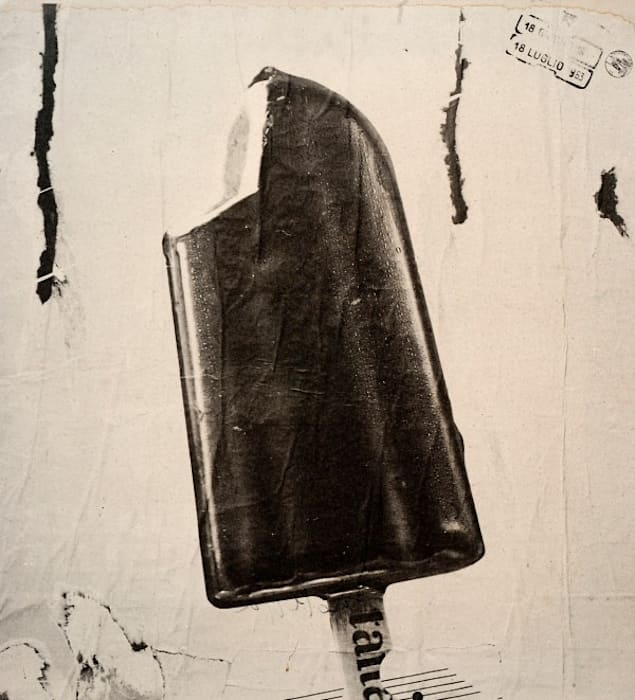Ice cream by Mimmo Rotella