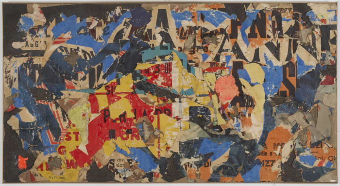 Collage 12 by Mimmo Rotella