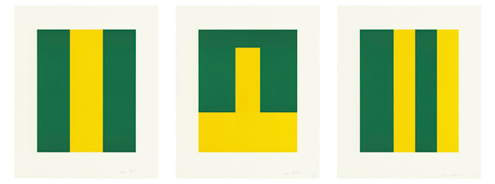 Verde y Amarillo by Carmen Herrera