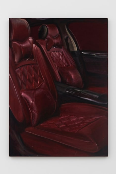 Blood Rugs / car interior by Issy Wood