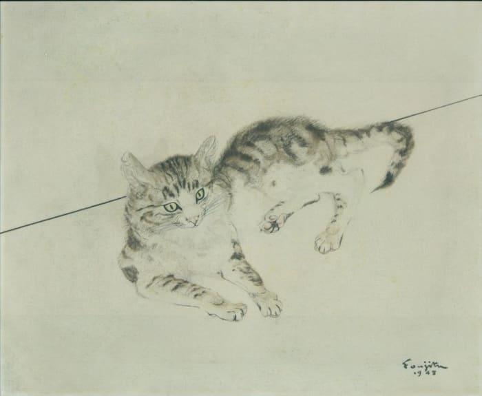 Cat by Leonard Tsuguharu Foujita