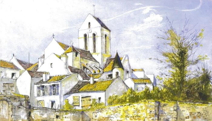 The Church in the village by Leonard Tsuguharu Foujita