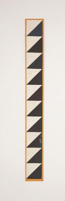 B11- Ancient Egyptian pattern, dark grey triangles on white by Chant Avedissian