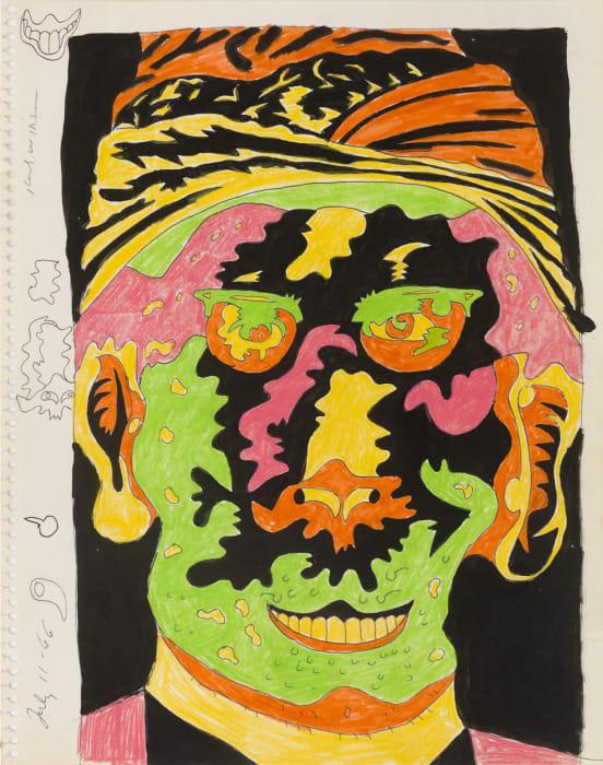Untitled (Study for Burn Victim Series) by Karl Wirsum
